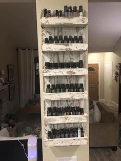 Essential Oil Shelf Essential Oil Storage by rustiKCreation