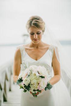 Beautiful bouquet: http://www.stylemepretty.com/2015/03/17/americana-coastal-maine-barn-wedding/ | Photography: Emily Delamater - www.emilydelamater.com