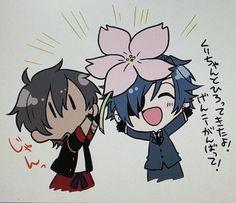 Basically, this is what Mii-chan said: Kuri-chan to hiro  dekita yo. Gen ni ganbatte!!! Now I don't know how to English that. And lastly, Kuri-chan's characters just said jan.