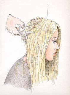 Cartoon haircut