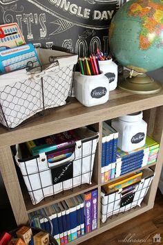 Affordable Rustic-Style Organizing Solutions - Home Schooling İdeas