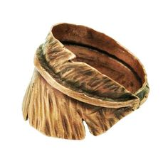 copper ring fold formed feather ring thumb ring by earplug on etsy-f14336.jpg (500×461)