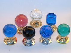 Vintage glass door knobs suit well with almost all modern locksets. It makes them famous and chosen as many people's preferences.