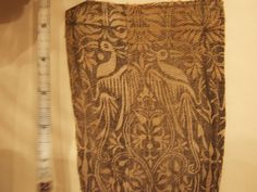 German late 14th c printed fabric, in the Cluny