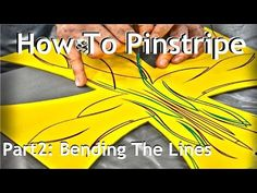 Cambridge Pinstriping, Tutorial - Part 2, Bending the Lines. How to pinstripe. - YouTube