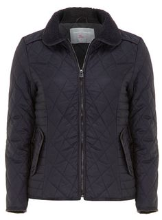 Petite navy quilted jacket - Jackets & Coats  - Clothing