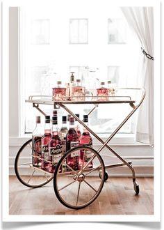 vintage bar cart...