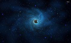 Blue space Apple Logo HD Wallpaper