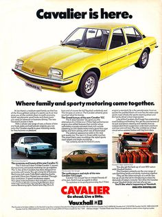Vauxhall Cavalier (Opel Ascona B in Germany) Retro Cars, Vintage Cars, Vintage Signs, Classic Motors, Classic Cars, Vauxhall Motors, Car Posters, Car Advertising, Commercial Vehicle