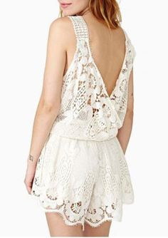 Backless Lace Romper $15.49