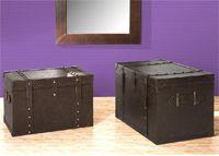 Precio para los dos baúles.  Medida del grande: 70 x 45 x 45 cm