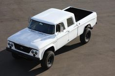 ICON - 1965 D200 Crew Cab body sitting on 2012 Dodge 3500 mega cab 4x4 diesel chassis. Heavily modified!!