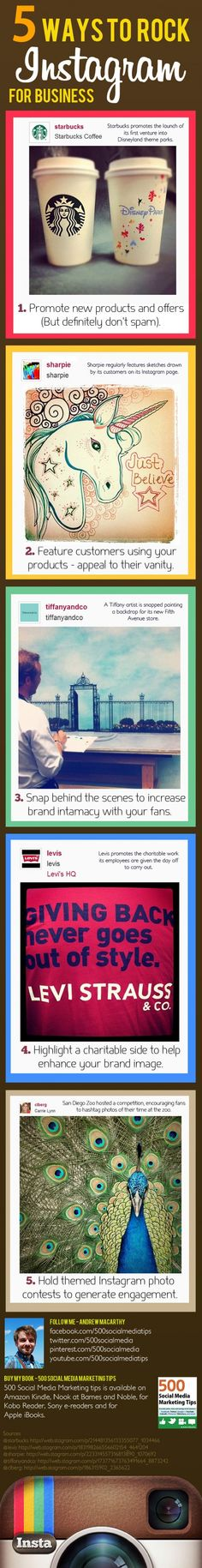 There are multitudes of ways for brands to connect with fans on Instagram. Today's infographic offers five easy-to-follow tips on how to effectively use Instagram for business.