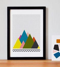 Affiche Montagnes