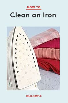 How To: Clean an Iron   Follow our simple technique to get rid of mineral spots on your iron's plate and clean out caked steam vents for a crisp dress shirt or any other piece of clothing. See this cleaning hack along with other laundry guides to help keep your clothes looking like new. #organizationtips #realsimple #howtoclean #cleaningtips #cleaninghacks Laundry Hacks, How To Clean Iron, Tidy Up, Real Simple, Home Organization, Dress Shirt, Cleaning Hacks, Mineral, Crisp