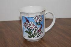 1984 Flower Coffee Mug Cup