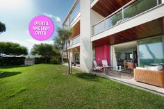 Puerto Pollensa sea front ground floor apartment for sale - spectacular is the word to describe this property - and close to the beach!!!!