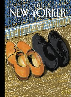 """The New Yorker - Monday, March 7, 2011 - Issue # 4394 - Vol. 87 - N° 3 - Cover """"Shoes"""" by David Hockney"""