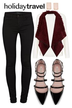 """Untitled #360"" by trinirockstarr ❤ liked on Polyvore featuring M&S Collection, Zara, J Brand, LE3NO and Kate Spade"