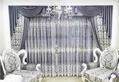 Latest Curtain Design for Living Room Stylish Living Room Curtain Models – Freshsdg Unique Curtains, Home Curtains, Modern Curtains, Fresh Living Room, Living Room Paint, Interior Design Living Room, Living Room Designs, Latest Curtain Designs, Painted Curtains