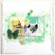 Soft Kitty Layout Using Websters Pages Postcards From Paris II - Sketchbook 365
