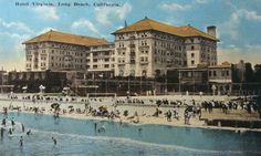 The Hotel Virginia of Long Beach was right by the ocean!