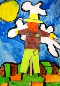 """I love when kids outline their artwork in black and make it """"pop"""" :) Jodi from The Clutter-Free Classroom"""