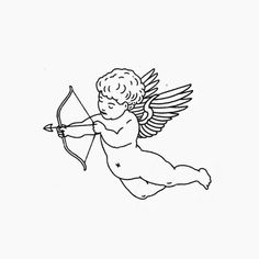 Cute Tiny Tattoos, Mini Tattoos, Small Tattoos, Tattoo Sketches, Tattoo Drawings, Flash Sketch, Blackwork, Cupid Tattoo, Flash Art Tattoos
