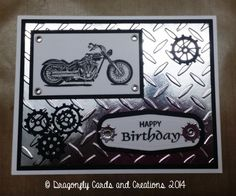 Motorcycle Birthday by Dragonfly Cards - Cards and Paper Crafts at Splitcoaststampers