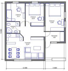 House design eco tiny homes new Ideas Mini House Plans, Small House Floor Plans, Simple House Plans, Dream House Plans, Modern House Plans, Bungalow House Design, Small House Design, Three Bedroom House Plan, Hotel Room Design