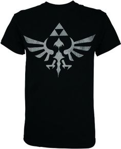 1106dd58a This cool Zelda t-shirt features the Triforce logo from the Legend of Zelda  video