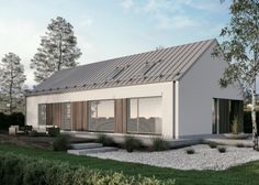 Modern Barn House, Barn House Plans, Modern Bungalow, Farmhouse Architecture, Roof Architecture, Modern Exterior, Exterior Design, Barn Conversion Interiors, Bungalow Renovation