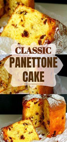 Panettone Rezept, Panettone Cake, Italian Panettone, Easy Panettone Recipe, Christmas Desserts, Christmas Baking, Easy Desserts, Delicious Desserts, Panettone