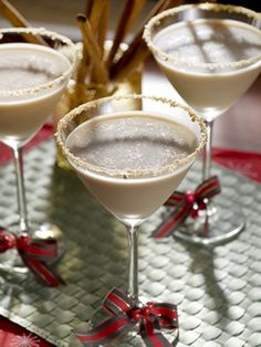 Delectable Drinks for Tasty Toastings  Break out the bar—it's time to toast the holiday season in style. Whether your guest list includes a dozen or hundreds, these cocktails are sure to please any crowd.  Berry Berry Belini  Ingredients 1