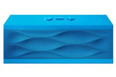 For The Tech-Obsessed Audiophile — This ultra-portable wireless speaker turns any phone or tablet into a hi-fi sound system...so now everyone can know she's got amazing taste in music.  Jawbone Jambox Blue Wave, $200, available at Jawbone.