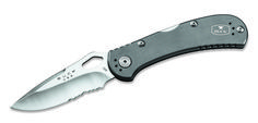 Buck Knives 722 Spitfire-Serrated Grey Folding Knife 722Gyx1 - Copper & Clad