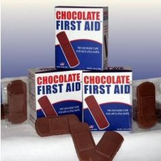 Great nurse gift: chocolate bandages! Because chocolate really does count as first aid.