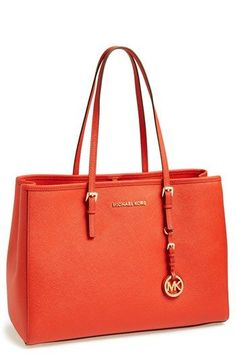 Beautiful bag. Too many interior pockets.  MICHAEL Michael Kors 'Jet Set - Large' Travel Tote available at #Nordstrom