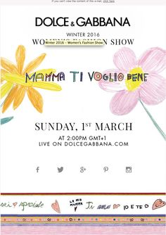 Save the date: Winter 2016 Women's Fashion Show Live stream