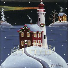 """Candy Cane Cove"" Painting by Catherine Holman"