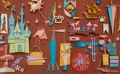 """Disneyland '55"" desktop wallpaper by Kevin Kidney and Jody Daily.  More at: http://www.facebook.com/Disney?v=app_165265046842945"
