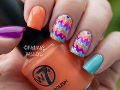 Colorful Chevron Nails