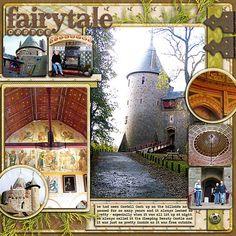scrapbooking travel layouts | Scrapbook Travel Layouts / fairytale castle scrapbook layout