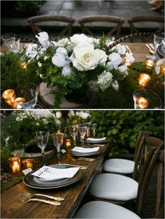 floral and pheasant feather centerpiece #weddingreception #tabledecor #weddingchicks http://www.weddingchicks.com/2014/04/09/english-garden-wedding-ideas/
