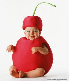 Baby fruit photo idea, cherry