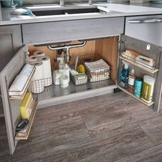 55 Smart Small Kitchen Organization and Tips Ideas A smart kitchen design layout can make any gourmet feel right at home cooking in cramped quarters. Case in point: the galley layout, which shapes the. Small Kitchen Organization, Small Kitchen Storage, Smart Kitchen, New Kitchen, Home Organization, Small Kitchen Decorating Ideas, Kitchen Cupboard, Kitchen Small, Organizing Ideas
