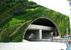 Vertical garden installed on a highway overpass in Aix-en-Provence, France. #gardens
