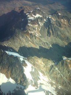 Fotos desde el avión, rumbo a Ushuaia, Argentina