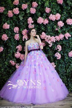 SAM13409-C-PUの詳細画像 Informal Wedding Dresses, Colored Wedding Dresses, Designer Wedding Dresses, Elegant Dresses, Pretty Dresses, Beautiful Dresses, Korean Fashion Dress, Wedding Dress Patterns, Fairytale Dress