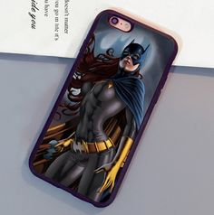 DC Comics Batgirl Printed Soft Rubber Skin Cell Phone Cases For iPhone 6 6S Plus 7 7 Plus 5 5S 5C SE 4S Back Shell Case Cover